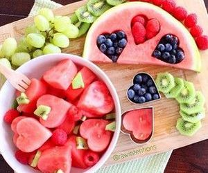 fruit, food, and watermelon image