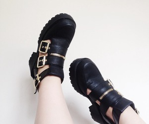 black, pale, and shoes image