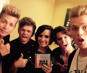 the vamps, demi lovato, and james mcvey image