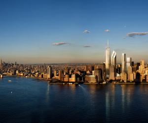 city, new york, and panorama image