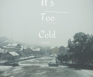 cold, peaceful, and quotes image