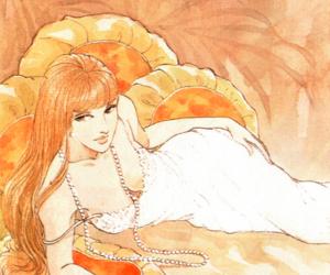 art, shoujo, and vintage manga image