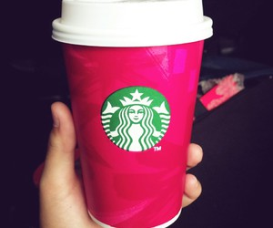 green, red, and starbucks image