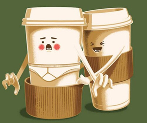 funny, coffee, and lol image