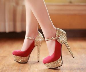 beauty, high heels, and fashion image