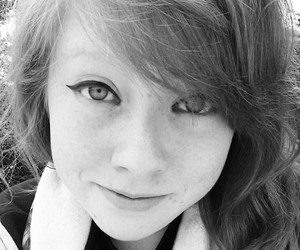 black and white, cat eyes, and ginger image