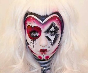 body art, red queen, and cards image