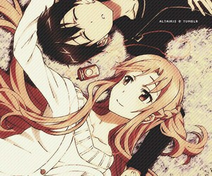 kirito, asuna, and sword art online image