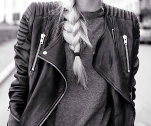 fashion, braid, and black image