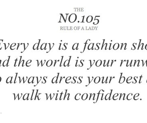 fashion, quote, and confidence image