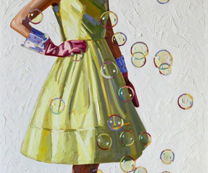 art, fashion, and fashion illustration image