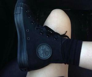 black, converse, and grunge image