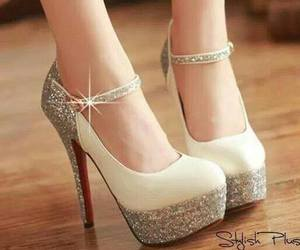 glitter, shoes, and white image
