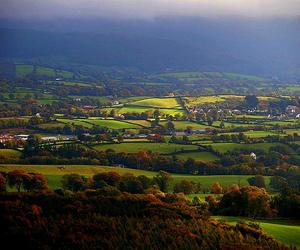 autumn, clouds, and landscape image