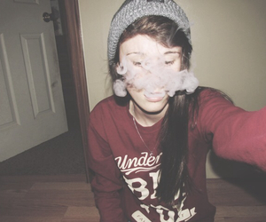 beanie, hipster, and hookah image