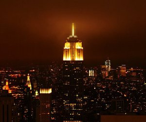 empire state, light, and night image