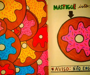 colorful, donuts, and wreck this journal image