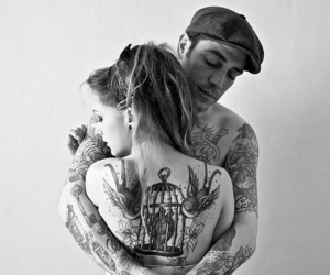 cool, tattoo, and couple image