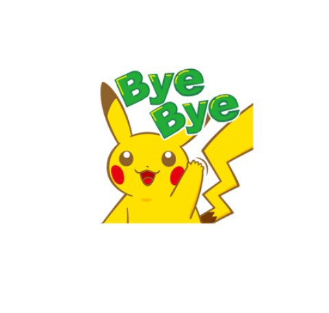 bye, overlay, and pikachu image