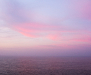 sky, pink, and sea image