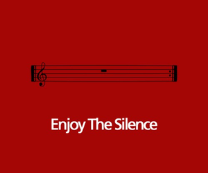 music, silence, and red image