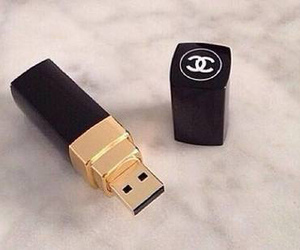 chanel, usb, and black image