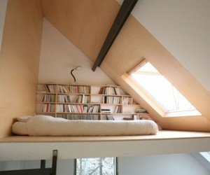 bed, books, and bedroom image