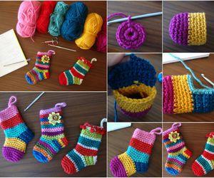 crochet, diy, and socks image