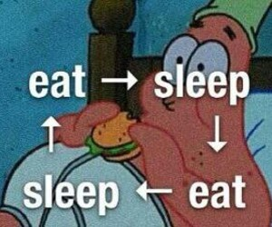 sleep, eat, and patrick image