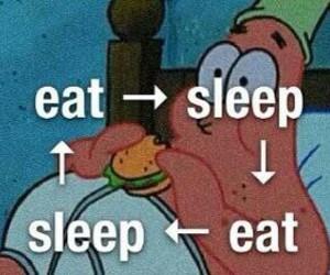 sleep, eat, and patrick image