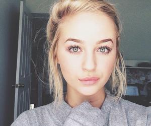 girl, blonde, and eyes image