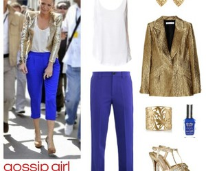 fashion, gold, and gossip girl image