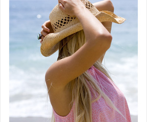 beach, campaign, and hat image