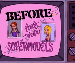 grunge, supermodel, and Daria image