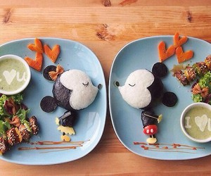 art, micky mouse, and food image