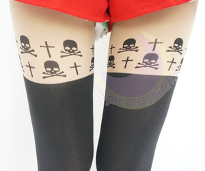 skeletons, skull, and tights image