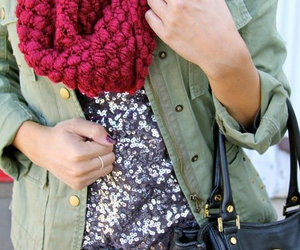 fall, sequin, and winter image