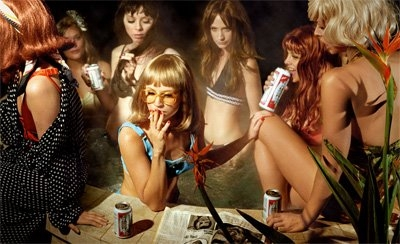 girl, party, and cigarette image