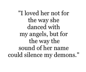 demons, quote, and love image