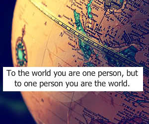 world, love, and quote image