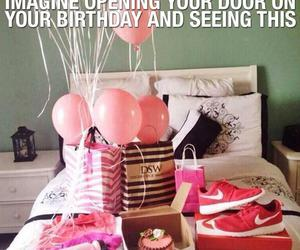 birthday, pink, and gift image