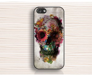 cool iphone 5s case, iphone 6 case, and art skull iphone 5 case image