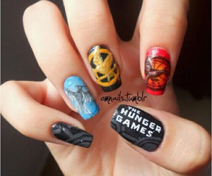 nails, hunger games, and the hunger games image