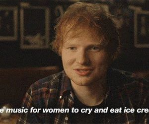 ed sheeran, music, and ice cream image