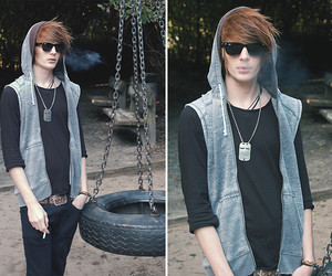 boy, cigarette, and hair image