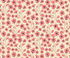 background, flowers, and pattern image