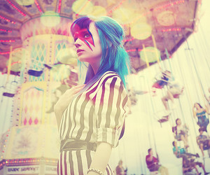 girl, blue, and carnival image