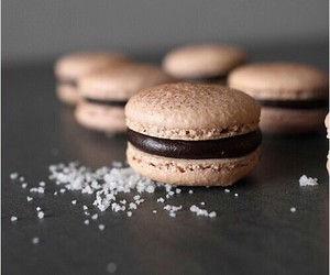 coffee, food, and macarons image