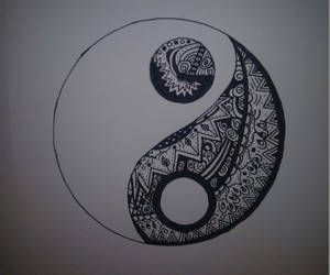 art, doodle, and yang image