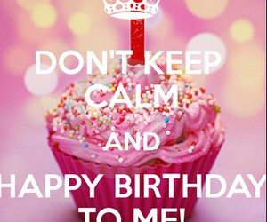 birthday, cupcake, and keep calm image